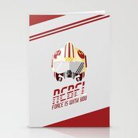 rebel Stationery Cards featuring Rebel by Tony Vazquez
