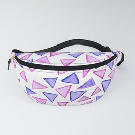 Pink purple watercolor hand painted triangles Fanny Pack