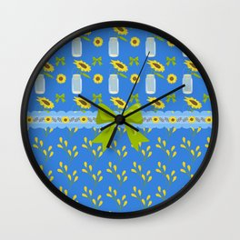 Sunflower Country Wall Clock