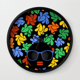 Afro Diva : Colorful Wall Clock