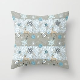 Lace & Flake Throw Pillow