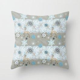 Lace & Flake Throw Pillow