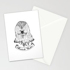 Mustache Wookiee Stationery Cards