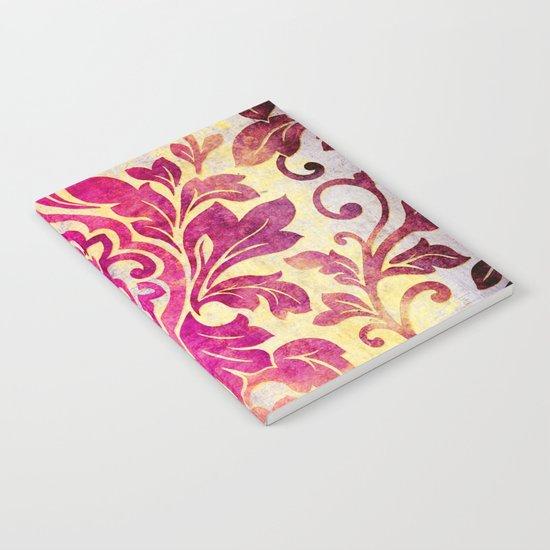 Purple Damask Pattern Notebook
