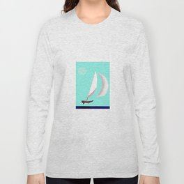 May Flying or Sailing in May - shoes stories Long Sleeve T-shirt