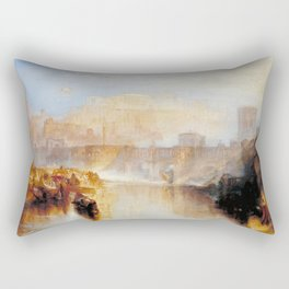 """J.M.W. Turner """"Ancient Rome; Agrippina Landing with the Ashes of Germanicus"""" Rectangular Pillow"""