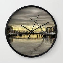 Morning on Dublin Docklands Wall Clock