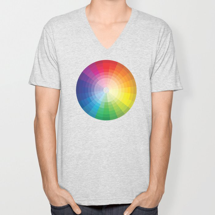 Color Wheel Unisex V-Neck