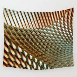 Shiny Gold Dimple Abstract Wall Tapestry