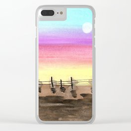 skyscapes 14 Clear iPhone Case