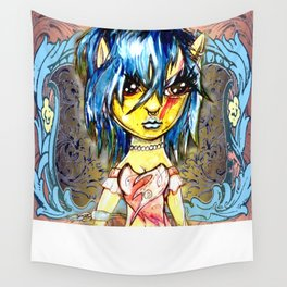 Blue Punky Fairy Wall Tapestry