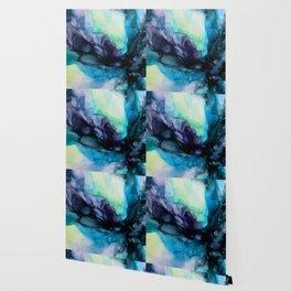 Sweet Pea Pastel Abstract Chaos | Calming Fluid Art Wallpaper