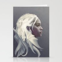 dude Stationery Cards featuring Mother of Dragons by Artgerm™