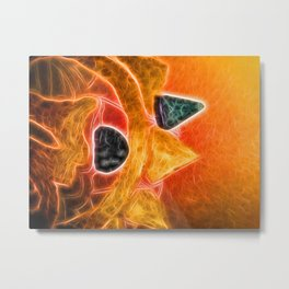 neonflash found new strange creature in the park Metal Print