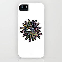 Okay Hand Sign Psychedelic Watercolor Trippy OK Gesture  iPhone Case