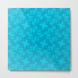 A chaotic grid of darkened rhombuses with intersecting blue northern lines and stars. Metal Print