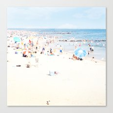 Blue Beach Brooklyn Canvas Print