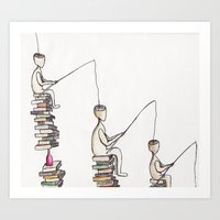 philosophy Art Prints featuring The philosophy by  Nikolay Ampilogow