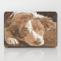 border collie iPad Cases featuring Border Collie Puppy Wren by Yvonne Carter