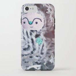 woodland spirit - winter black and white iPhone Case