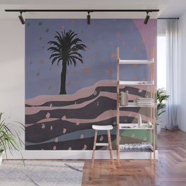 Autumnal Air around the Palm Tree Wall Mural