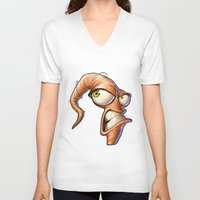 video games V-neck T-shirts featuring Triangles Video Games Heroes - EarthWorm Jim by s2lart