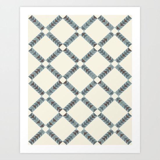 Navajo Winter Pattern Art Print