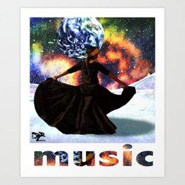 music is life Art Print