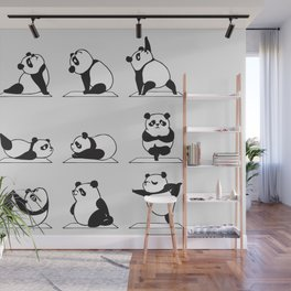 Panda Yoga Wall Mural