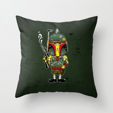 SpongeBoba Fett - Star Wars Spongebob mashup Throw Pillow