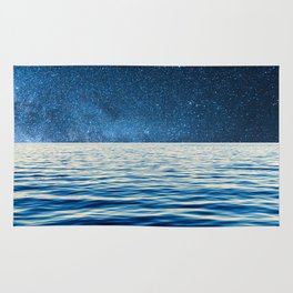 Sailing into space Rug