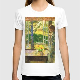 Classical Masterpiece 'The Goldfish Window' by Frederick Childe Hassam T-shirt