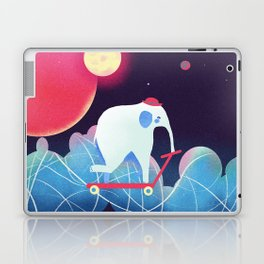 Space Elephant riding  Kick scooter Laptop & iPad Skin