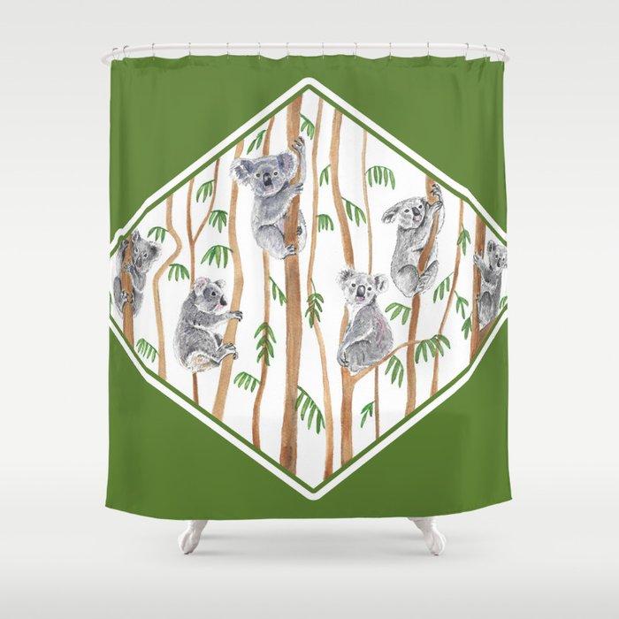 Koala Forest Shower Curtain