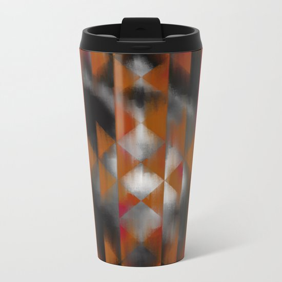 Boho Magic (red) Metal Travel Mug