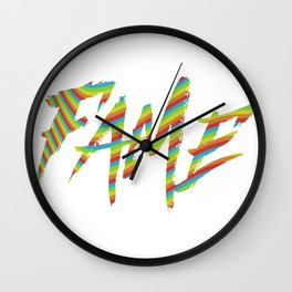 Fame Wall Clock