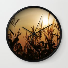 Corn Field 11 Wall Clock