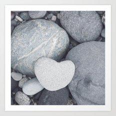 Heart Shaped Rock Art Print