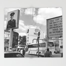 Checkpoint Charlie Berlin Throw Blanket