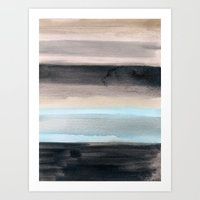 santa monica Art Prints featuring Santa Monica by Steven k Schmidt