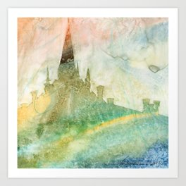 Unity - 23 Watercolor painting Art Print