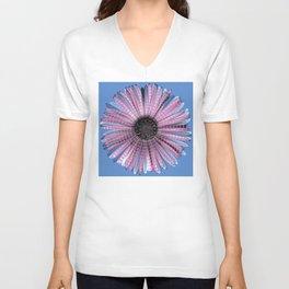 Urban daisy wearing street-cred stripes Unisex V-Neck