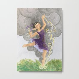 Thunderstorm (Weatherwoman #4) Metal Print