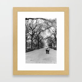 Central Park Walks Framed Art Print