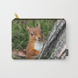Nature woodland animals smiling squirrel Carry-All Pouch
