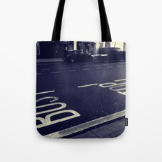 Bus Stop bw Tote Bag