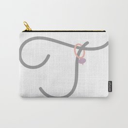 T Initial with Stitch Marker Carry-All Pouch