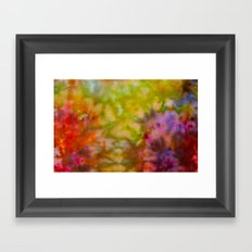 Burgundy and Olive Abstract Framed Art Print