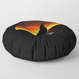Stay Gold Lone Wolf Floor Pillow