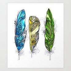 Dream Feathers Art Print